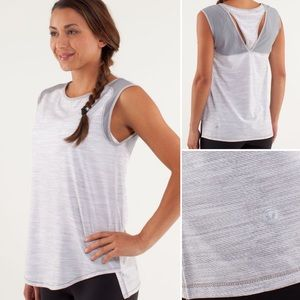 Lululemon Run Light as Air Sleeveless Tank Gray